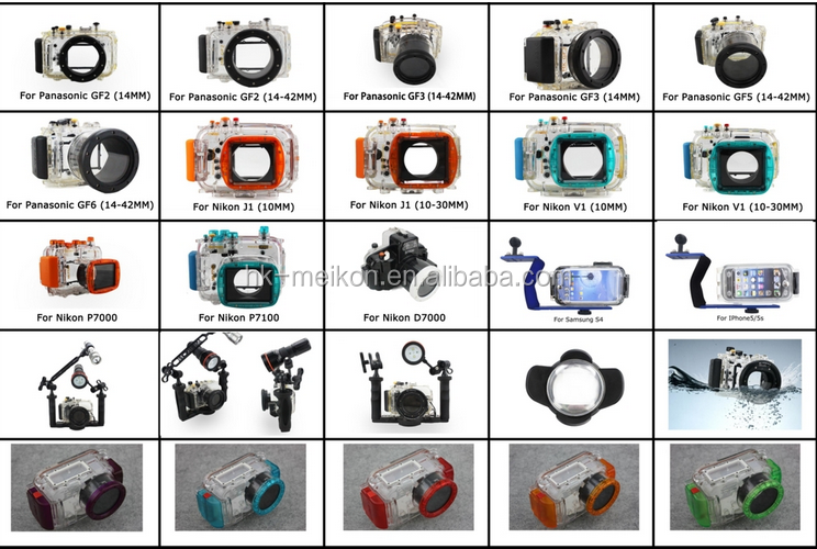 Meikon IPX 8 40M/130ft camera waterproof housing for Canon S110 , for underwater photo shooting