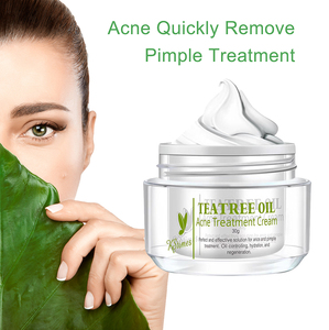 Private Label Acne Tone Skin Care Products Tea Tree Oil Pimple Treatment Cream Best Anti Acne Clear Gel for Acne in India
