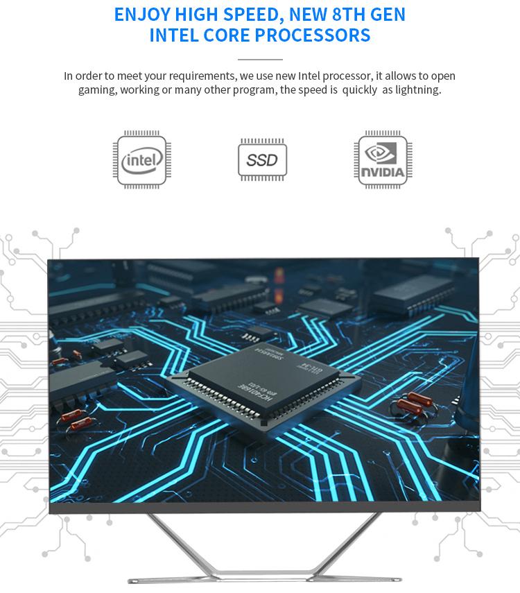 """Vendita calda 24 """"all-in-one PC mini pc i7 ufficio del computer hardware monoblocco all in one del computer"""