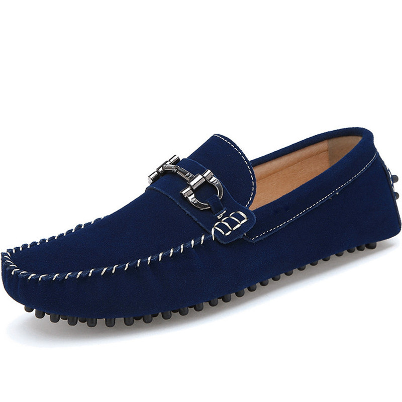 2015 Mens Spring Men Black Blue Suede Loafers Shoes Casual Handmade Men Shoes Casual Slip On Leather Moccasins Driving Shoes