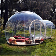 Factory wholesale good quality water proof Inflatable Outdoor event or camping fire resistant transparent bubble tent