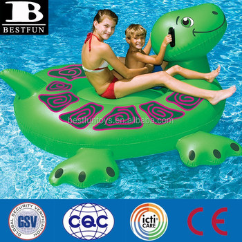 Large Inflatable Turtle Giant Turtle Pool Lake Float Seat Water Games Toys  For Adult And Kids