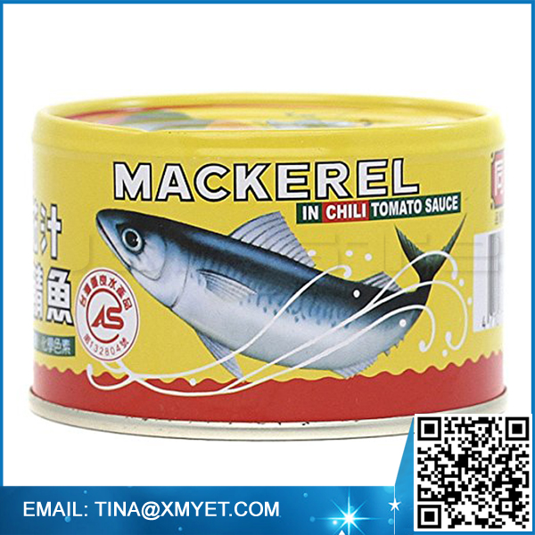 155g mackerel fish Canned mackerel In Tomato Chili Sauce for sale