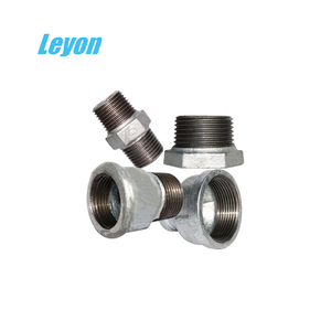 hydraulic fitting names pipe fittings threaded bushing 280 famale thread nipple galvanized 529a m/f socket en10242 reducer