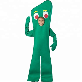 Wholesale Halloween Carnival Party Movie Gumby Costume Role Play Cosplay Fancy Dress