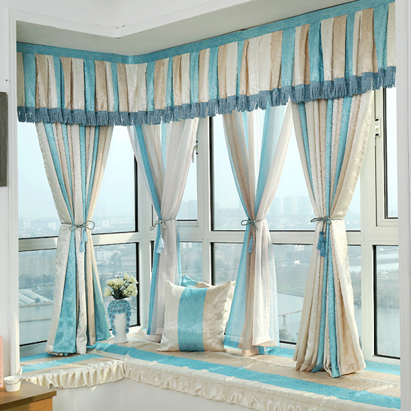 Home Decoration Mediterranean Style Window Curtains With