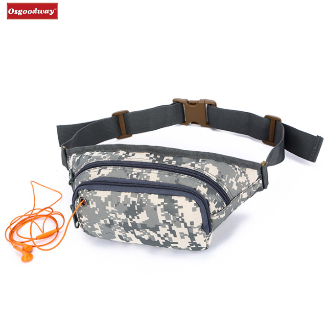 Osgoodway High Quality Waterproof Durable Tactical Sport Waist Bag Running Fanny Pack for Coach Gym