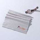 microfiber suede fabric glasses cleaning cloth with silk print