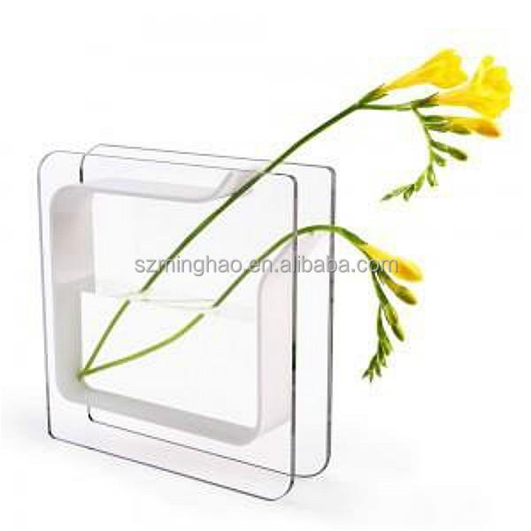 Decoration Acrylic Cube Vase Supplieranufacturers At Alibaba