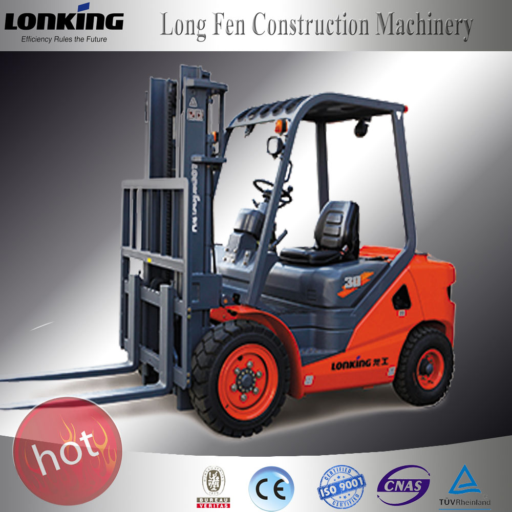 LG30DT manual forklift /manual pallet stacker with solid tyre 3 ton forklift specification