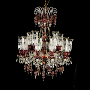 Turkish Style Classic Dark Red Glass Chandelier Pendant Lighting