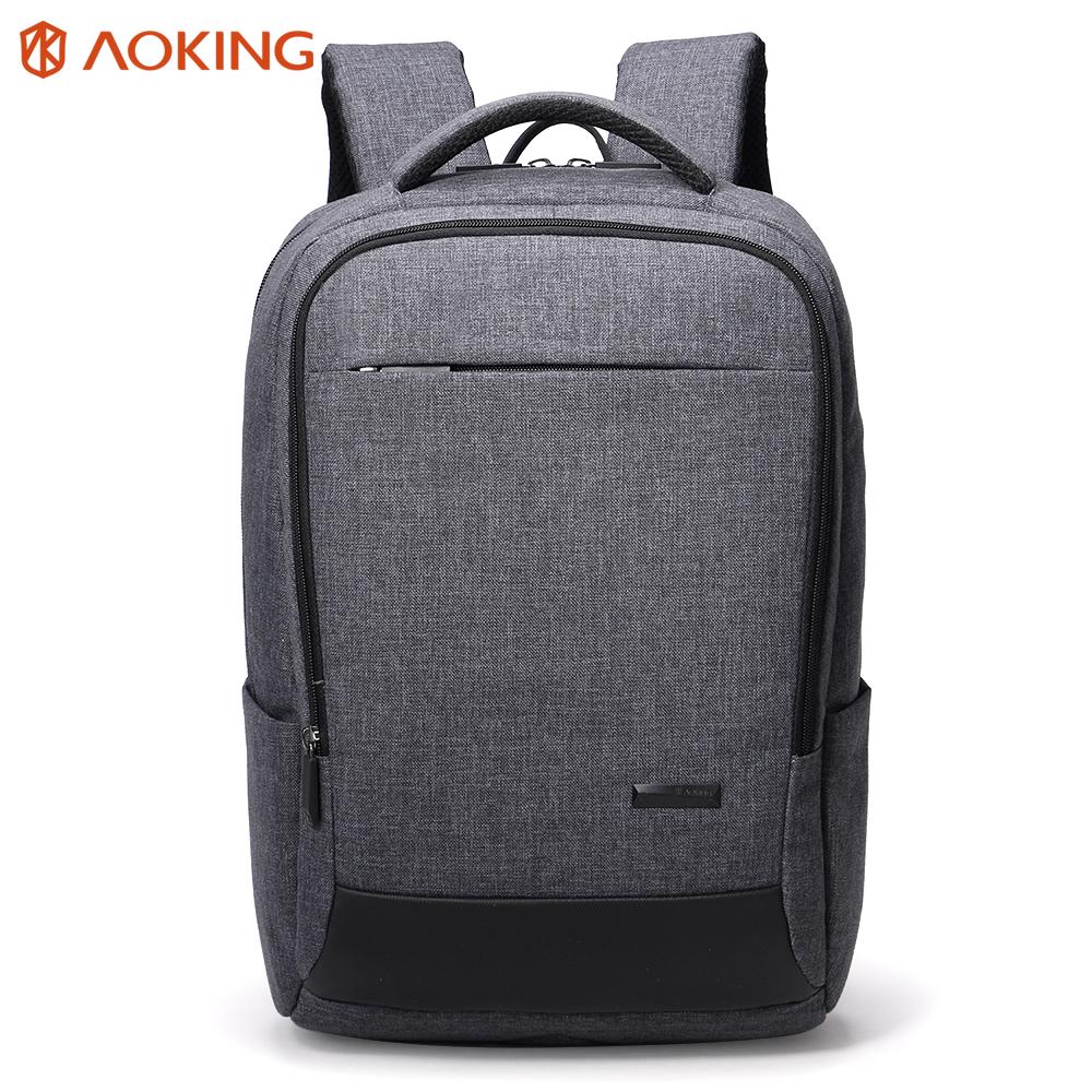 Korean style gray color men business bag laptop 노트북 computer backpack 2018