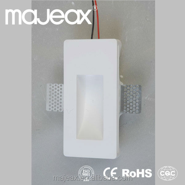 Gypsum Plaster 1w Recessed Led Corner Wall Light Wall Lights ...