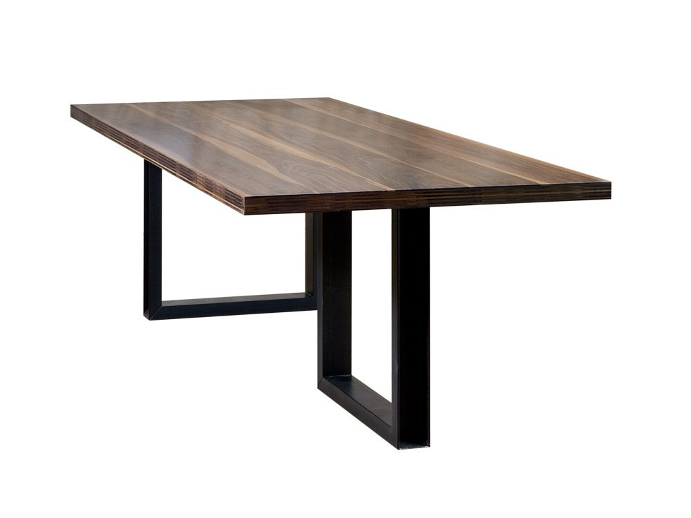 Iron Leg Dining Table with Wooden Top Design Dining Room furniture