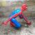 Customized Fiberglass Spider-Man Statues Sculpture For Amusement Park Garden Decoration