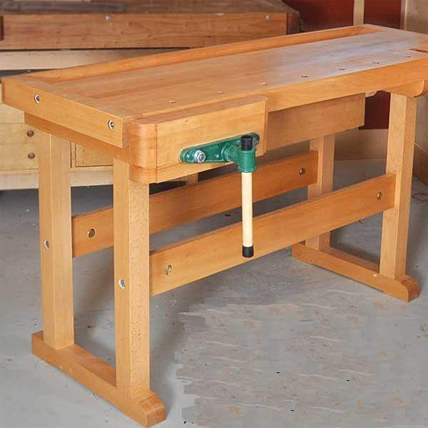 Wooden work table cordless drill case