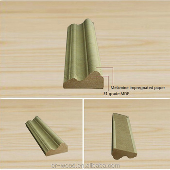 Melamine Wrapped Wainscot Chair Rail Moulding