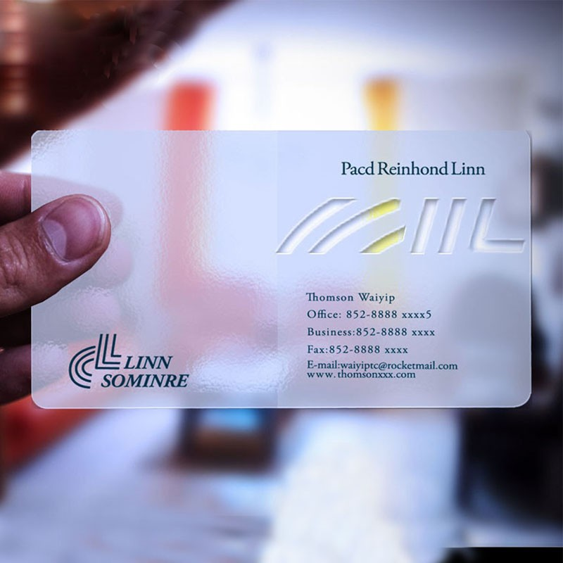 Custom Plastic Transparent Business Visiting Name Card At Fast Lead ...