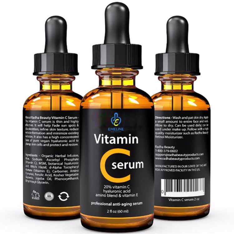 Whitening Formula Vitamin C Serum With Hyaluronic Acid For Skin Care