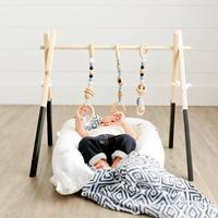 Wooden Weave Baby Gyms Toys Wood Baby Gym Teething Toys Newborn Hanging Activity Gym