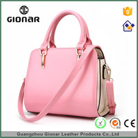 Wholesale Fashion Only Ladies Totes Bags Cheap Glossy Handbag Pink Leather Handbags