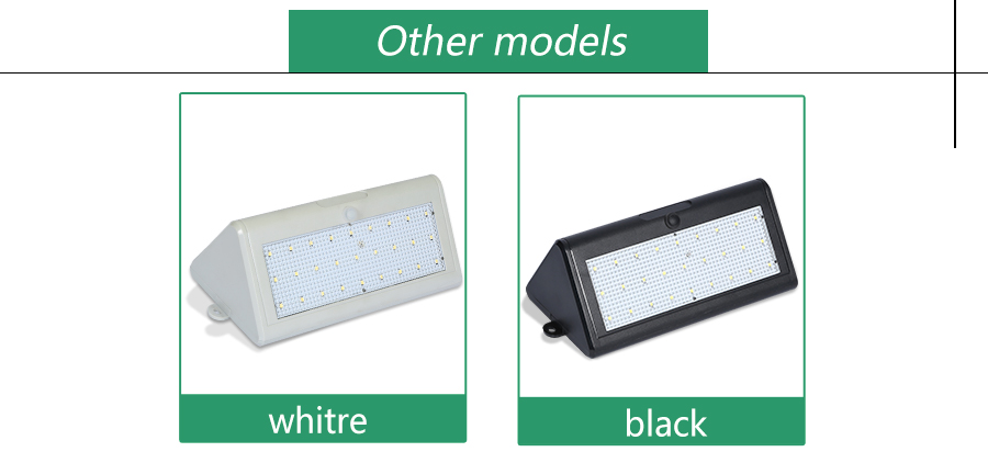 Free sample outdoor garden lighting cool white ip65 waterproof 5.4w led solar wall light
