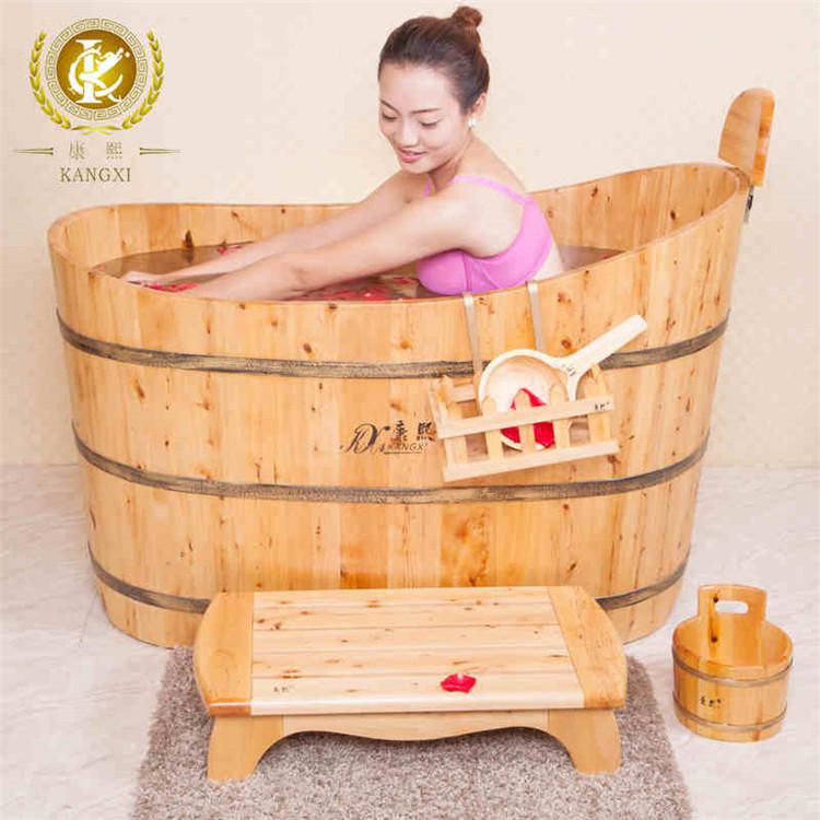 autoportant int rieur 1 personne bain remous petite c dre baignoire de bain massage whirlpool. Black Bedroom Furniture Sets. Home Design Ideas