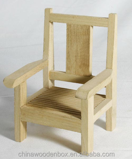 Miniature toys for kids wooden chair buy miniature for Toddler mini chair