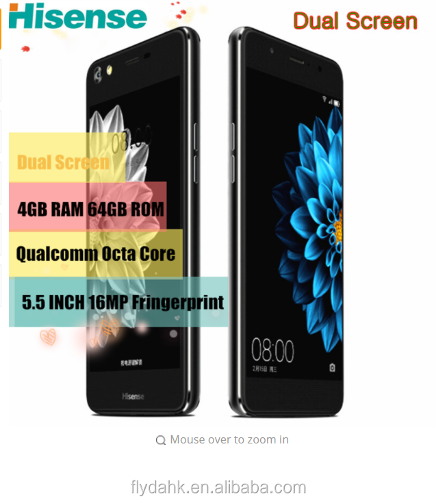 Original Hisense A2 Moblie Phone Octa Core 4gb 64gb 5 5inch Android  Smartphone 2 5d Double Screen Cellphone Fingerprint 4g Phone - Buy Hisense  A2