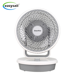 Factory directly sale 220V 50W 50Hz 4 speed circulating fan manual vertical oscillation removable front cover air circulator fan