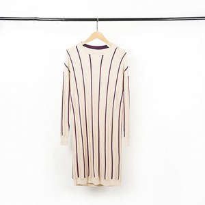 Long sleeve wool sweater for autumn striped design for women