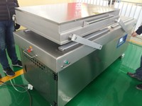 Double chamber plastic bag vacuum shrinking sealing machine air pumping sealer,food,fruit,meat,water proof processing