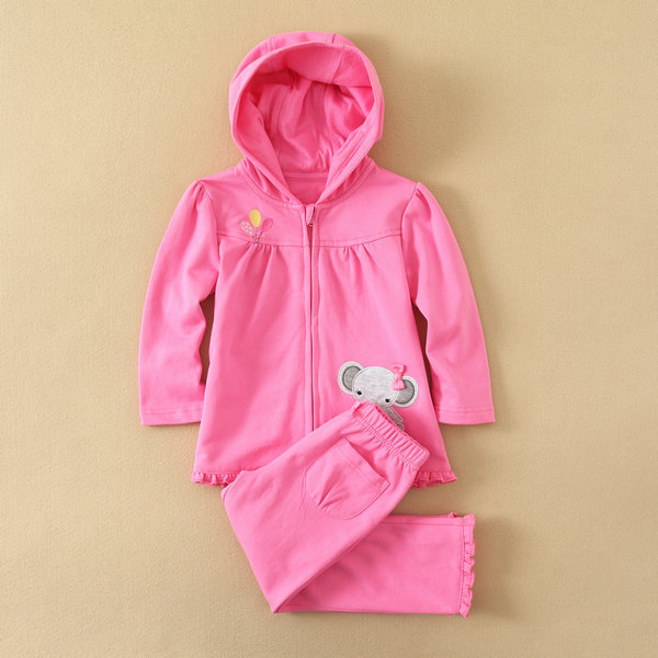 2014 autumn baby clothing 100% cotton embroidered baby sweat suits, infant and toddler clothes suits