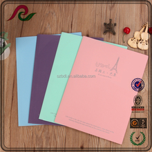 Solid-colored waterproof A4 report cover PP presentation flyers folder with 6 pockets