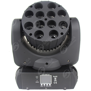 colorful 12*12w rgbw 4in1 led moving head beam stage lights mixer