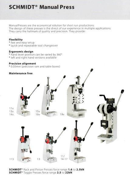 Schmidt Manual Press - Buy Press Machine,Manual Hand Press  Machine,Hydraulic Press Machine Product on Alibaba com