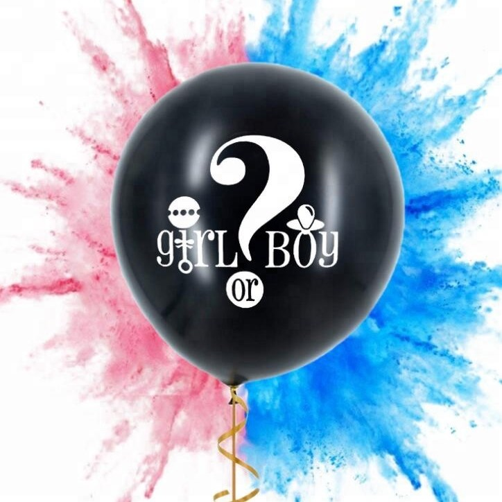 36 Inch Gender Reveal Powder Balloon for Baby Shower Come with Pink and Blue Powder