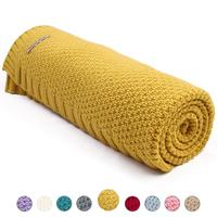 Custom Super Soft Knitted Organic Cotton Baby Blanket