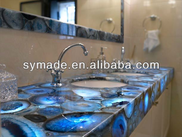Incroyable Marble Agate Translucent Blue Agate Countertop   Buy Blue Agate Countertop,Blue  Marble Countertop,Blue Onyx Countertop Product On Alibaba.com