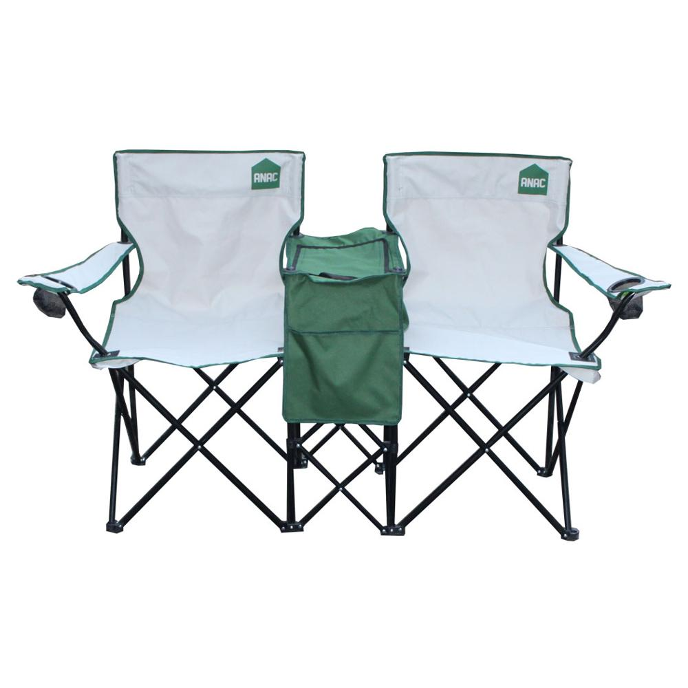 2 Person Whole Picnic Umbrella Family Travel Portable Folding Camping Chair With Table
