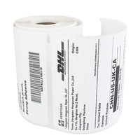 Self Adhesive 4x6 Inch Direct Thermal Sticker Paper Thermal Transfer Printed Label Zebra/Dymo