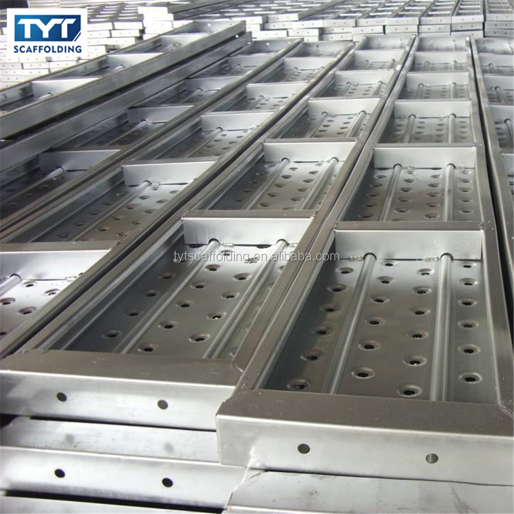 Strong and Power Galvanized Scaffolding Steel Plank / Walk Board / Catwalk / galvanized metal