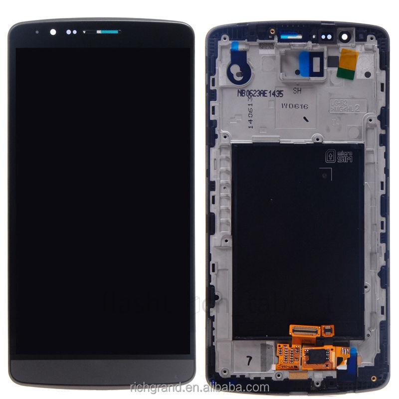 Top Quality LCD Display Touch Screen Digitizer with Frame for LG G3 D850 D851 D855 Gray