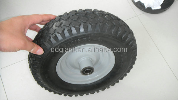 Good bearing rubber wheel 4.10/3.50-6 with metal rim