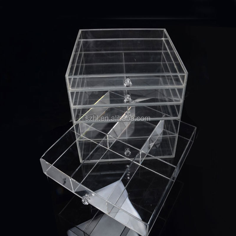 Clear Acrylic storage Box New 5 Drawers Clear Acrylic Makeup Cosmetic Jewelry Multipurpose Organizer Box