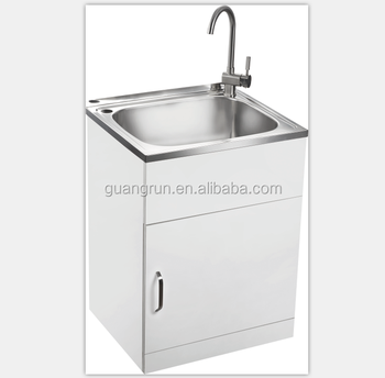 Australia New Zealand Style Free Standing Commercial Stainless Steel Laundry  Tub Cabinet GR X5656