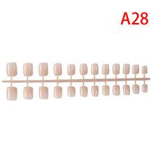 Накладные ногти на коротких ногтях, 24 шт., накладные ногти ABS, искусственные ногти, пресс на коротких круглых ногтях, украшения для дизайна но...(Китай)