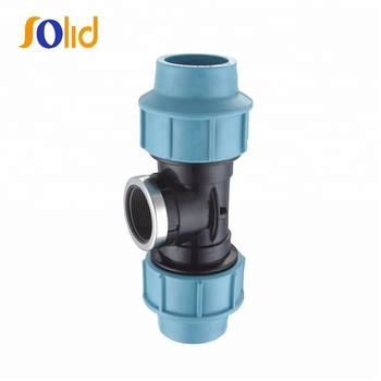 PP Plastic Compression Fittings for Irrigation female threaded tee