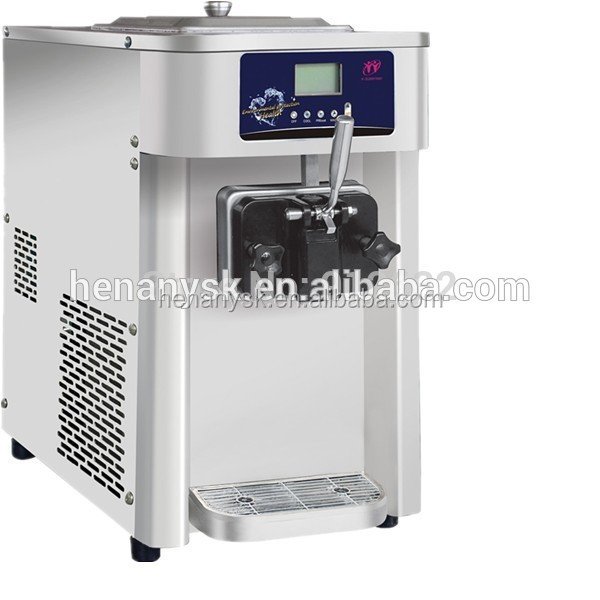 19-22L/H 2017 Stainless Steel Hot Sale Soft Ice Cream Machine Maker
