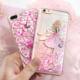 Bustyle Phone Case Liquid Mobile Accessories Anti-shock TPU Glitter Mobile Cover For iPhone x 7 8plus